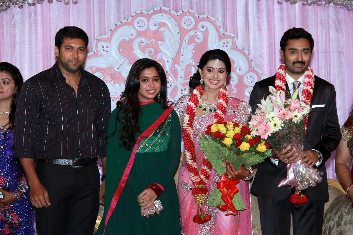 celebrities at sneha wedding reception photos m4movi
