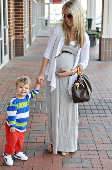 walking with dancers looking good while pregnant