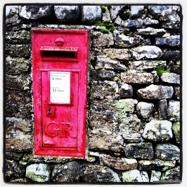 Post box in dry stone wall
