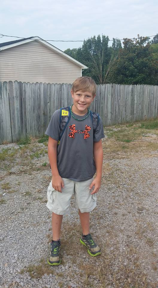 Shawn's 1st day of 5th grade