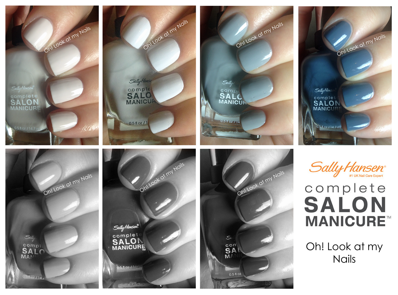 oh! look at my nails: seven days of sally hansen: day 4 - graygray