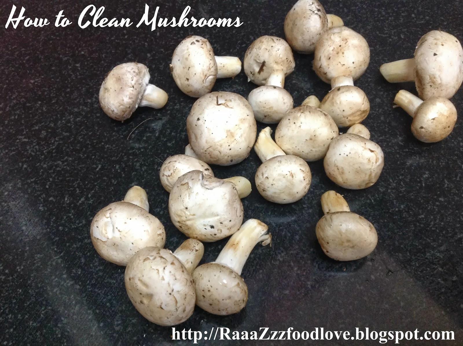 how to clean remini mushrooms