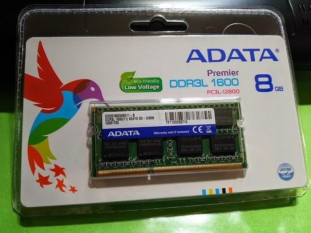 メモリ:PC3L-12800(DDR3L-1600)