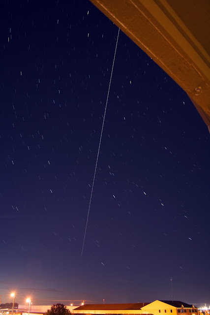 space station fly over