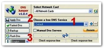 DNS Jumper Membuka situs yang terblokir & mempercepat koneksi internet