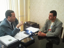Sargento Araújo em reunião com o líder do PSC, André Moura
