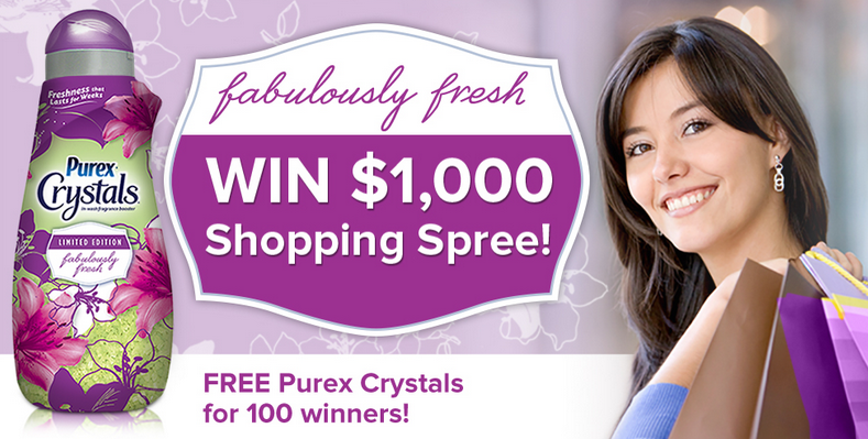 purex limited edition fabulously fresh crystals sweepstakes banner