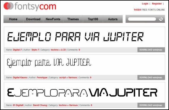 Fontsy reúne casi 15.000 fuentes de texto gratuitas