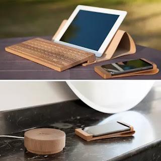 Accesorios de Madera Sostenible para Tabletas y Smartphones