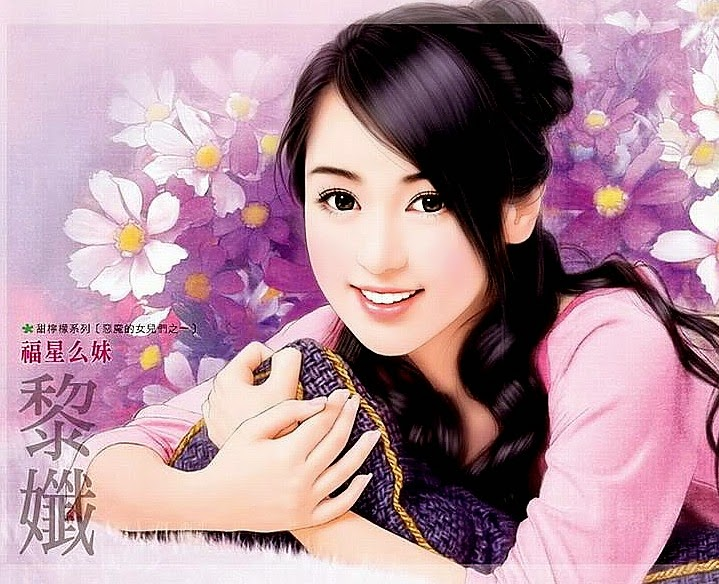 Art now and then painting girls chinese girl western style oriental flavored voltagebd Image collections