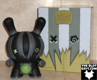 Toy Review: Kidrobot Ironclad Decimator 8 Inch Dunny Chase & Packaging (Front) by Doktor A