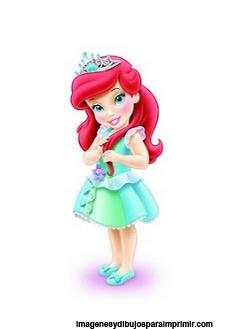 princesa ariel bebe para imprimir princesas disney bebes para imprimir