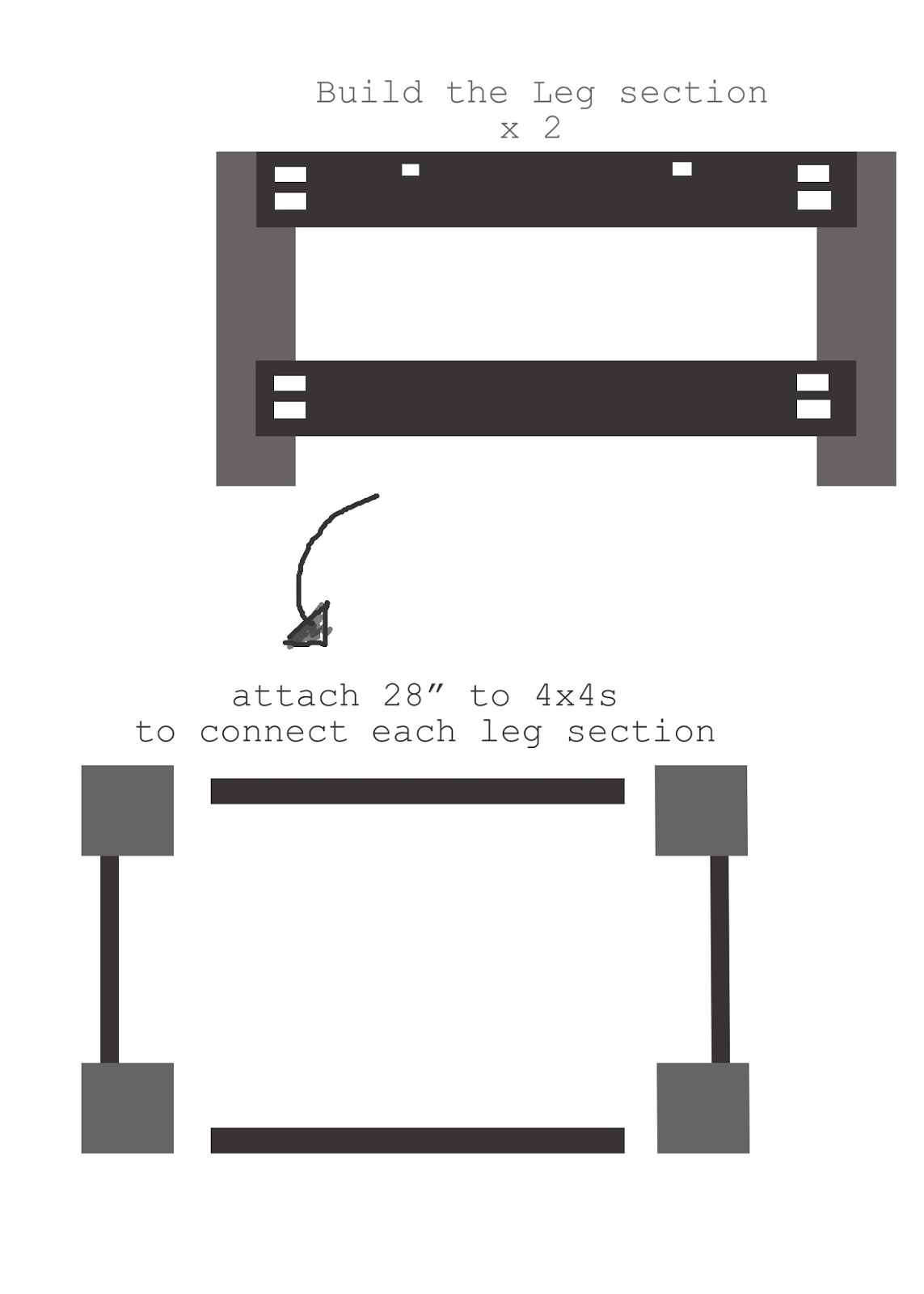 diagram for DIY ottoman