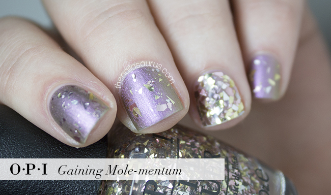 OPI Gaining Mole-mentum Swatch | The Nailasaurus | British Nail Blog