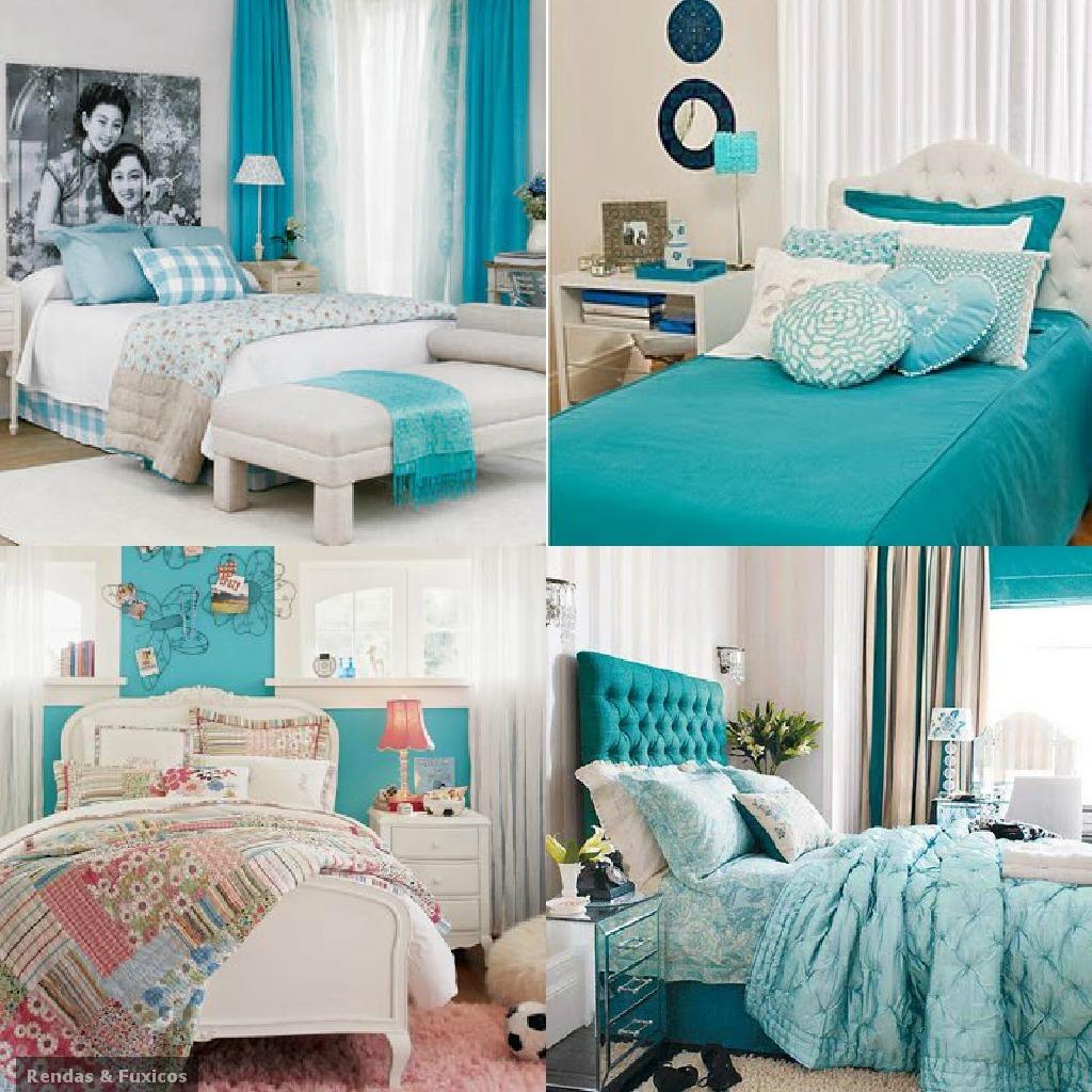 Quartos De Casal Decorados Em Azul ~ Filosofia de Interiores Um toque azul turquesa na sua decora??o