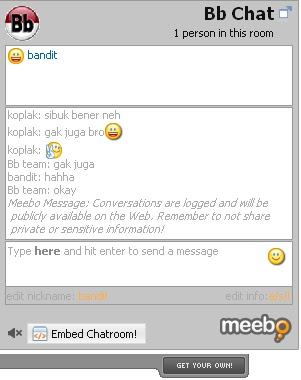 blog with chat room