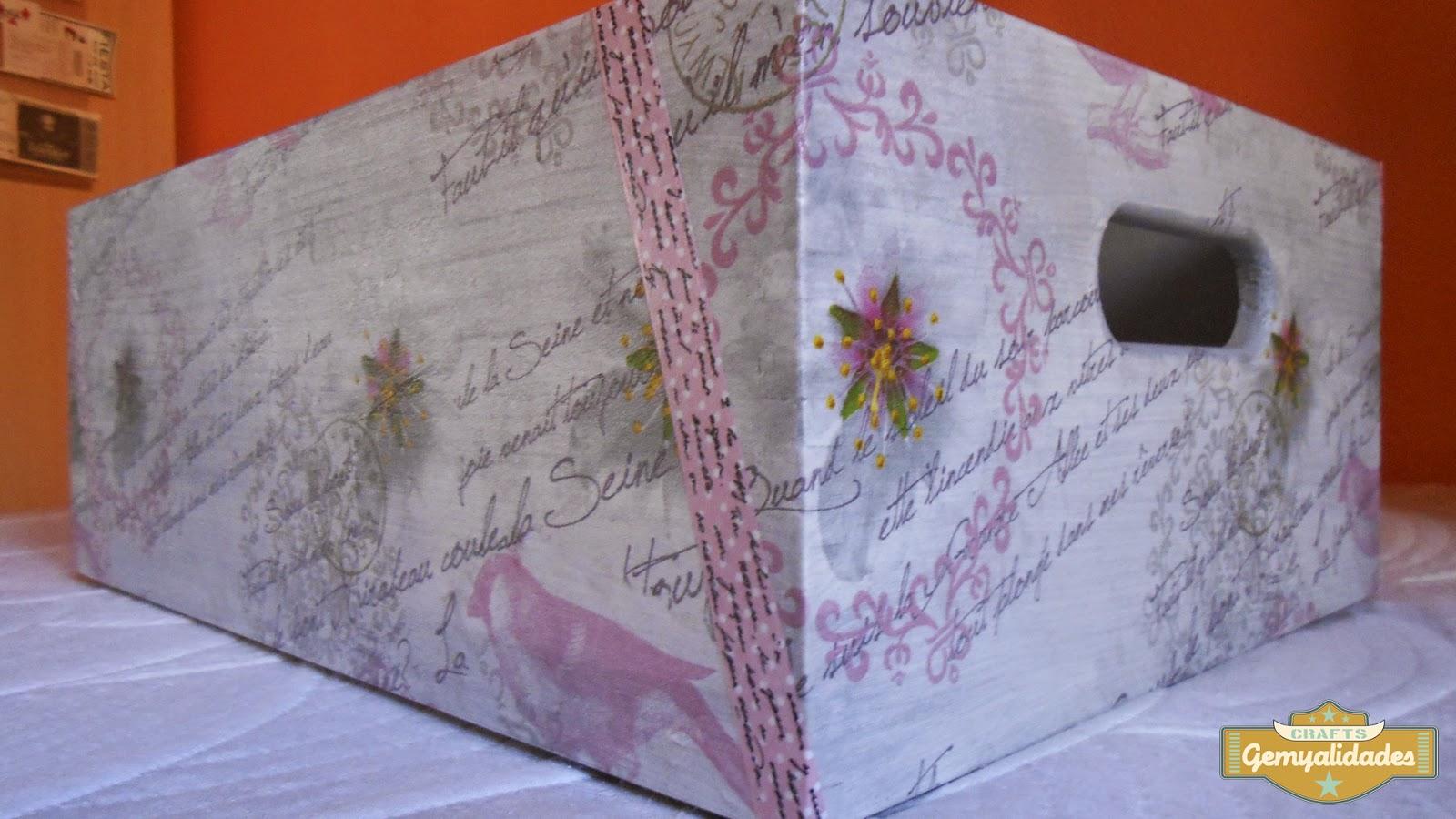 Gemyalidades: Cómo decorar cajas apilables para ordenar nuestras