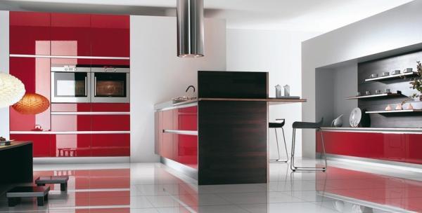 Decoration Cuisine Moderne Rouge Et Blanc : Decoration cuisine galerie photos home sweet
