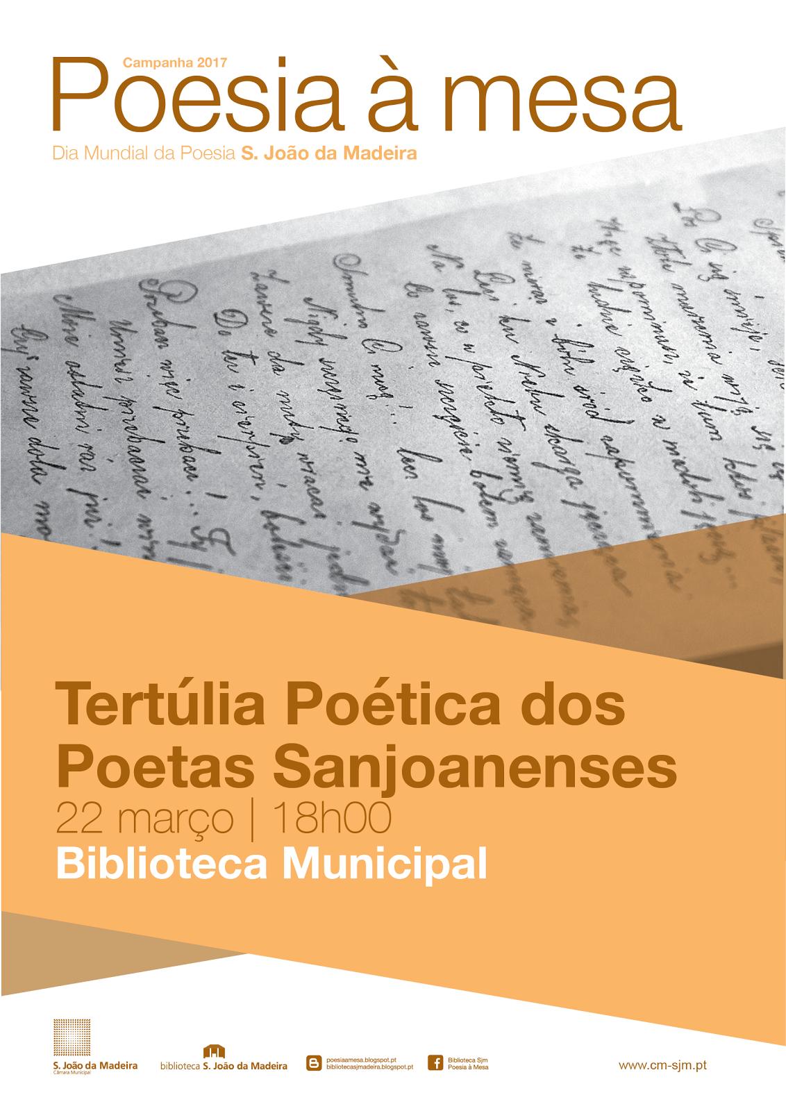 TERTÚLIA DOS POETAS SANJOANENSES, COM PERFORMANCE MUSICAL DOS ALUNOS  DA ACADEMIA DE MÚSICA