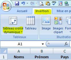 Excel-TCD-Le ruban