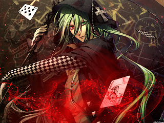 Card Green Long Hair Guy Boy Anime HD Wallpaper Desktop PC Backgound 1675