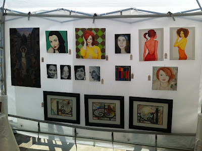 art walk north, mel lastman square, toronto art show, malinda prudhomme, portrait artist, mixed media artist