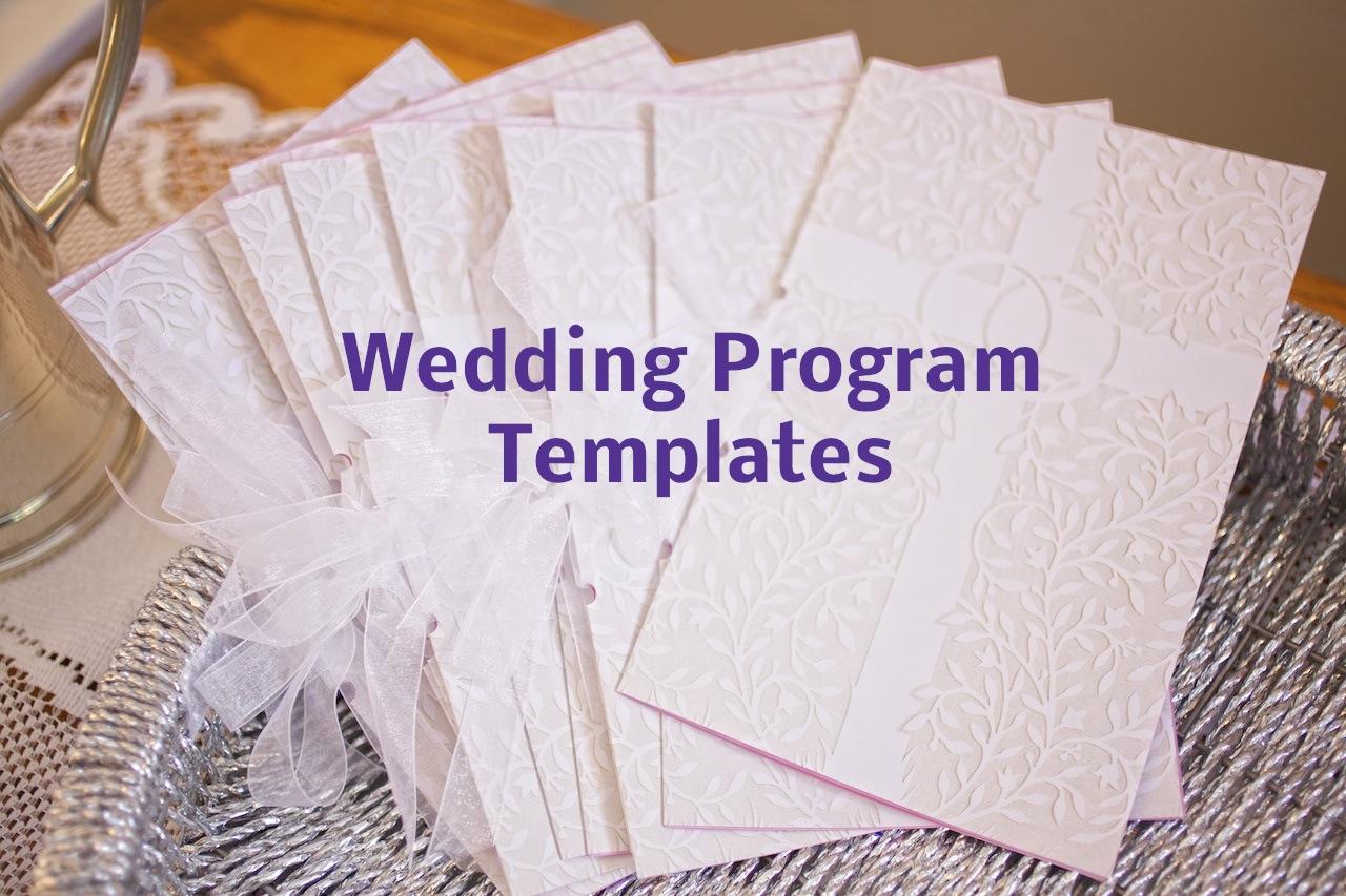 Something Old Something New Something You Wedding Program Templates - Blank wedding program template