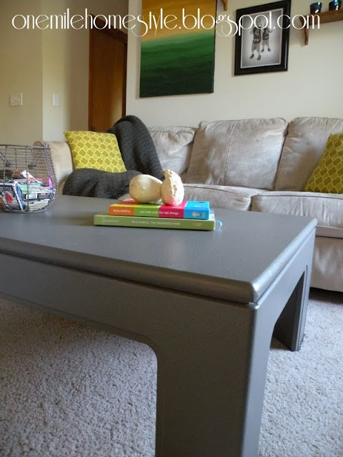 Dark gray coffee table