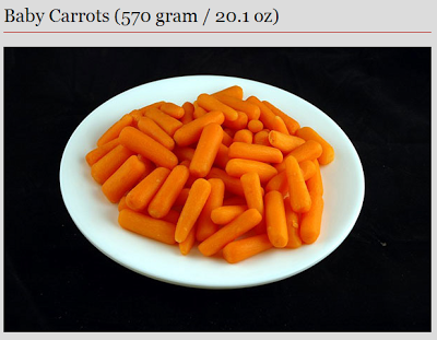 carrots - 200 calories