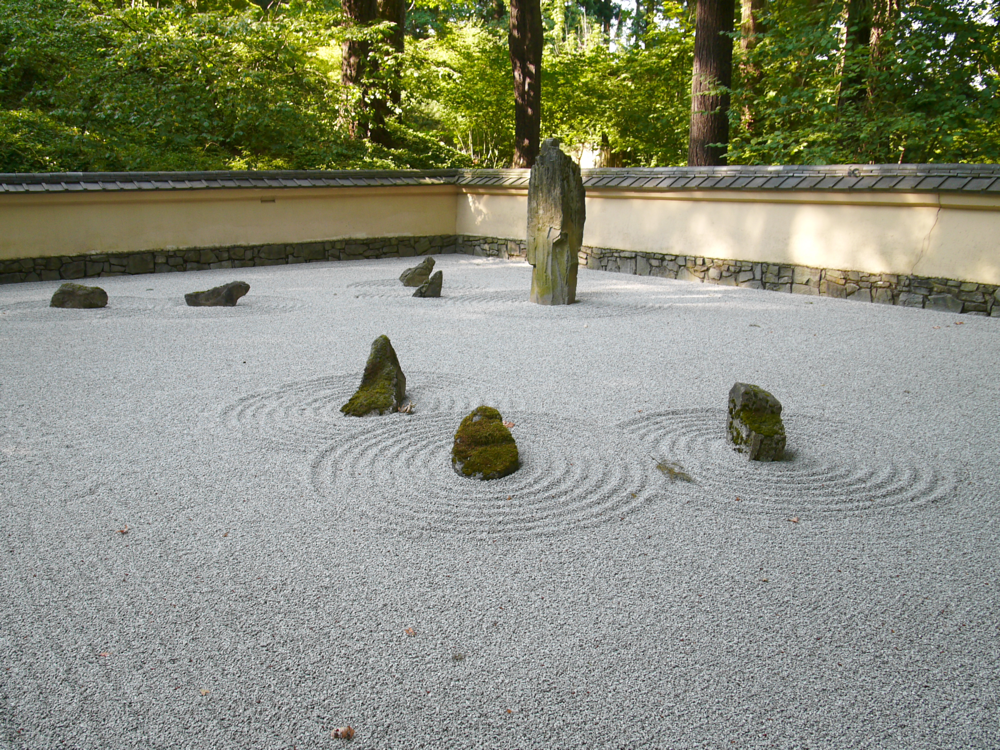 Portland Oregon Japanese Garden, Panasonic Lumix L1, meditation