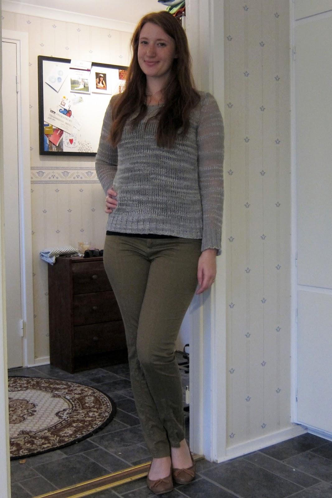 Ur min garderob: Grått och grönt