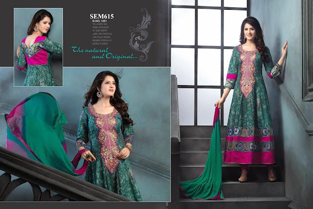 Online Shopping For Semi Loan Anarkali Suit