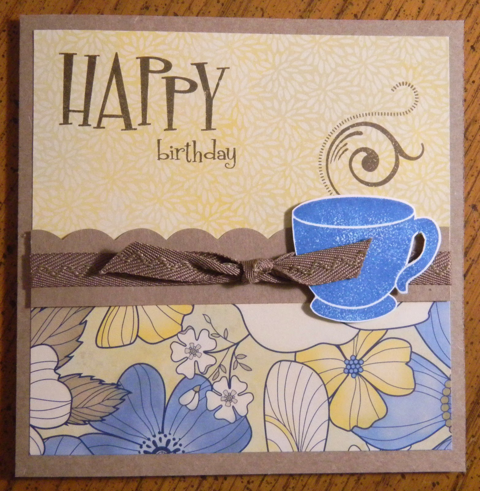 heatherjanedesign coffee card, Birthday card