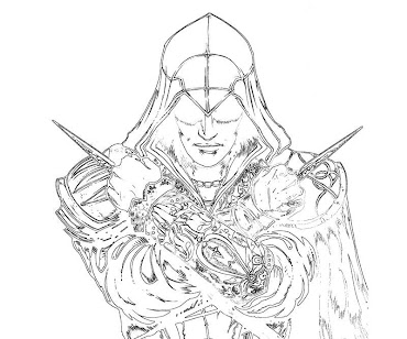 #9 Assassin's Creed Coloring Page