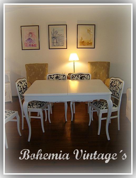 Entre tiempos y bohemia llego al fin bohemia vintage s for Comedor vintage blanco