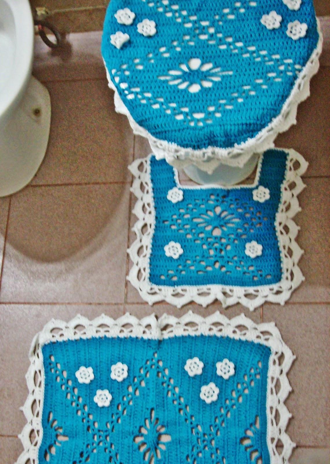 Juegos De Baño A Gancho: Circulos- Trabajos tejidos a crochet- ganchillo: Juego de baño tejido
