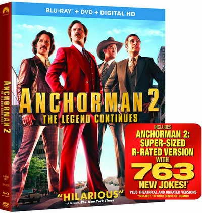 Anchorman 2: The Legend Continues (Blu-ray), Starring Will Ferrell, Steve Carell
