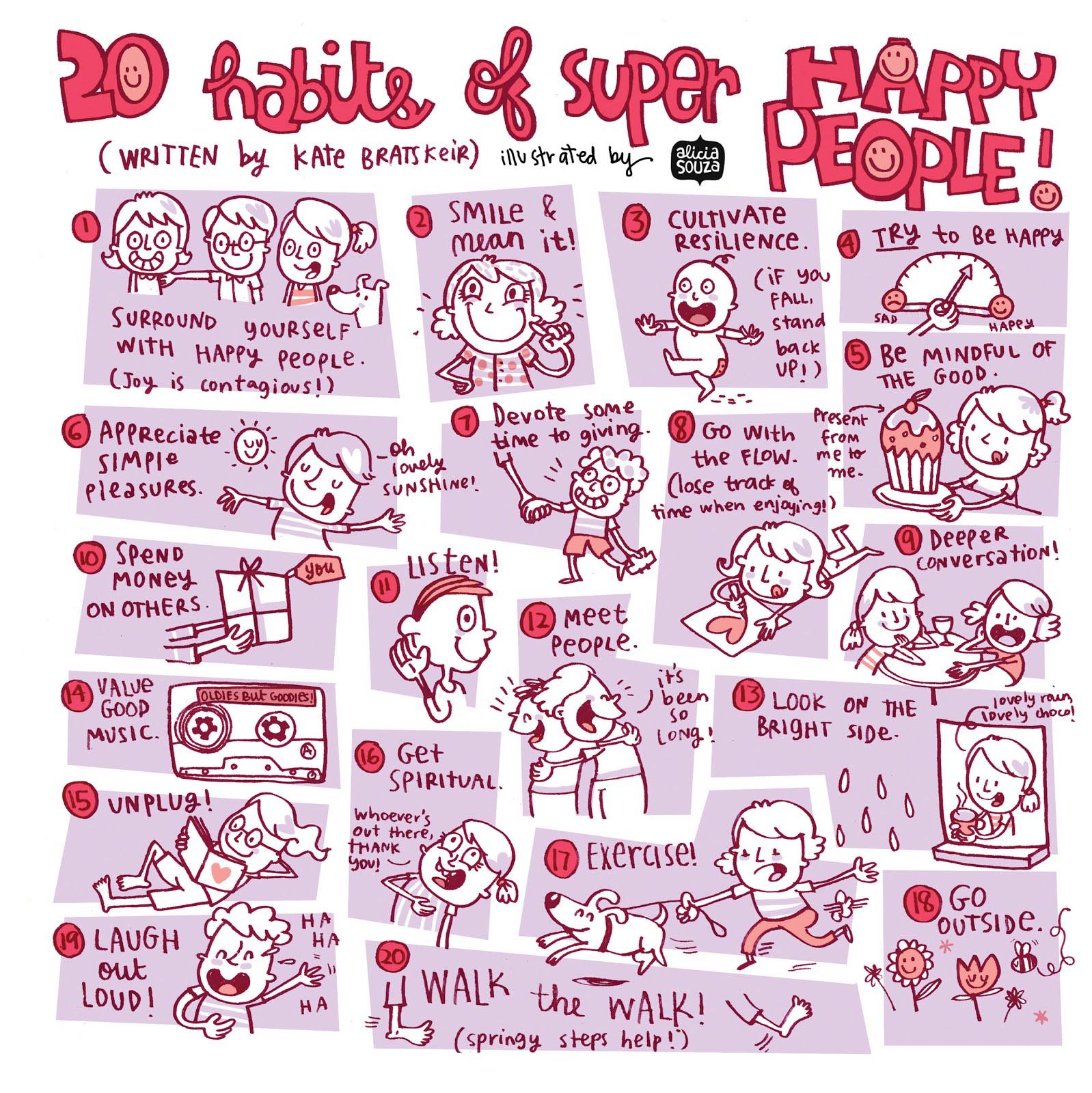 8 habits of happy people 100