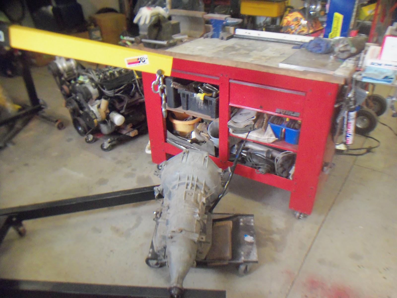 E Tek Restorations Classics Rods And Customs Bm Shift Kit Ford Aod Transmission Up Onto The Bench