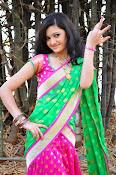 Pujitha sizzling in half saree-thumbnail-5