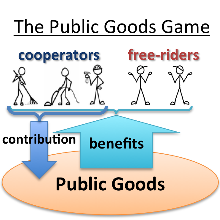 How does game theory relate to public goods?