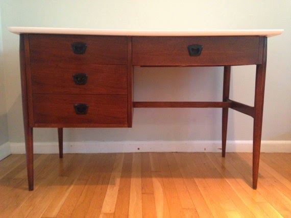 Danish Modern Floating Desk