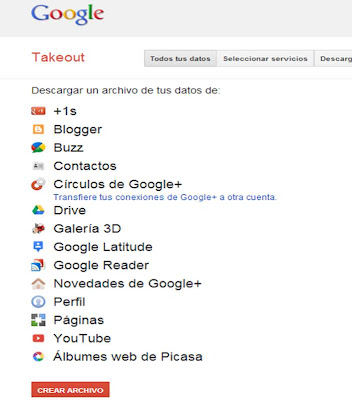 Copia Seguidad de Google