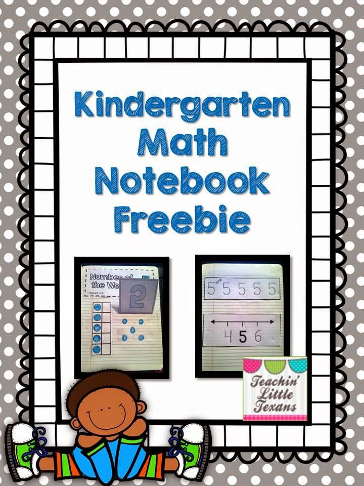 Teachin\' Little Texans: Kindergarten Math Notebook {Freebie!}