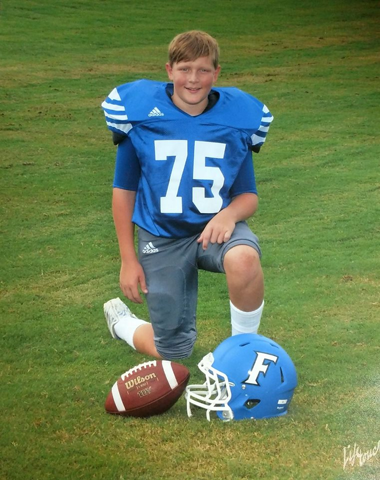 Shawns 1st Football Picture