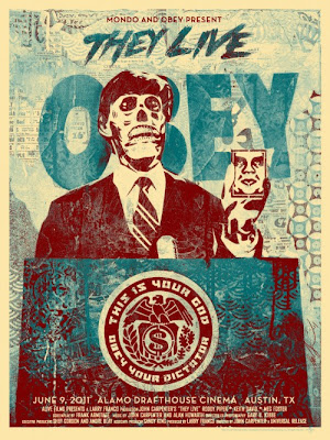 "Obey Giant x Mondo ""They Live"" Blue Variant Screen Print by Shepard Fairey"