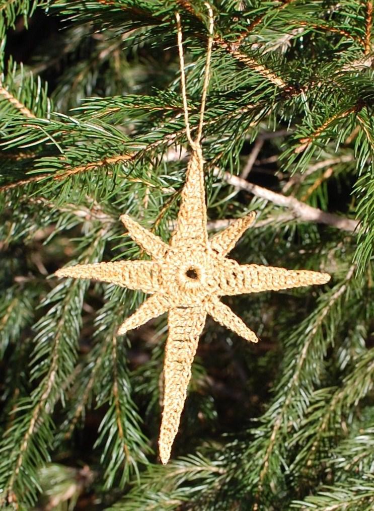 Crocheted Star of Bethlehem Ornament   Petals to Picots