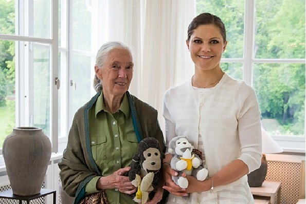 Princess Victoria Met With Ethologist Jane Goodall At Haga Palace