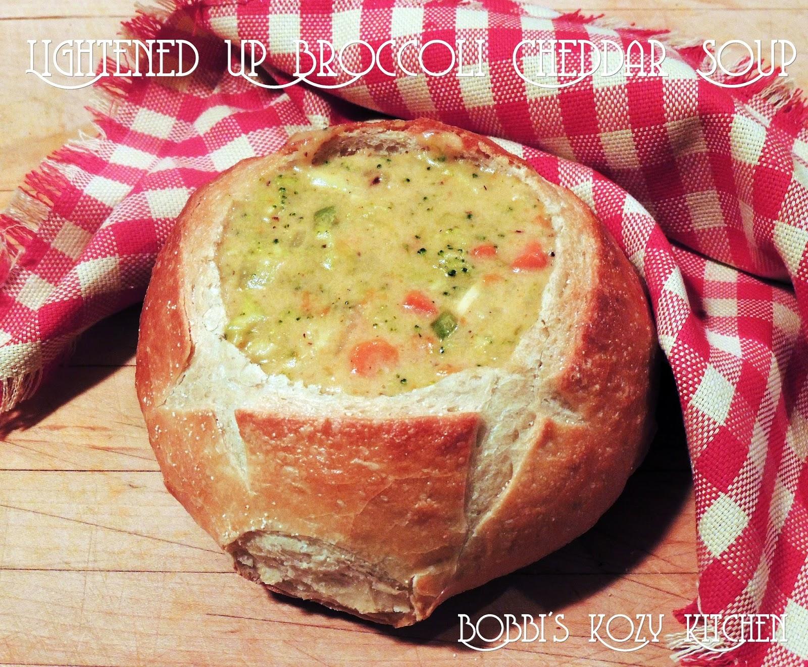 lightened up panera inspired broccoli cheddar soup bobbi s kozy