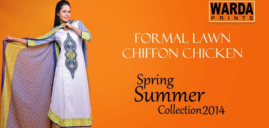 Warda prints spring summer collection 2014 pakistani